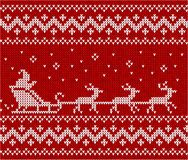 Sweater with Santa and his deers Royalty Free Stock Photography