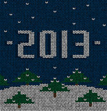 Sweater Set 2. Sweater pattern, drawing on the new year Stock Photography