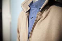 Sweater and shirt on a mannequin. Close up Royalty Free Stock Images