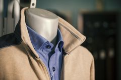 Sweater and shirt on a mannequin. Close up Royalty Free Stock Photography