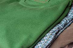 Sweater, shirt and pants Stock Photography
