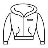 Sweater. Simple flat sweater icon vector Stock Images