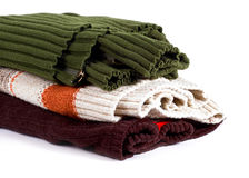 Sweater stack Royalty Free Stock Image