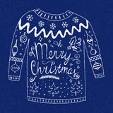 Sweater with text Royalty Free Stock Photo