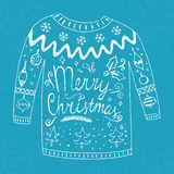 Sweater with text Stock Images