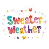 Sweater weather. Decorative lettering design Stock Photo