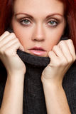 Sweater Woman Stock Image