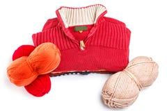Sweaters and yarns Stock Photo