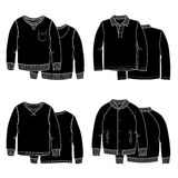 Sweaters black Stock Images