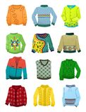 Sweaters for boys Vector Illustration