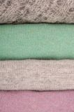 Sweaters pile. Royalty Free Stock Photography