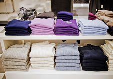 Sweaters and pullovers Royalty Free Stock Image