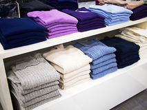 Sweaters and pullovers for sale Royalty Free Stock Photography