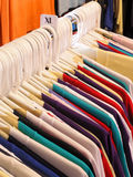 Sweaters on the rack Stock Photography
