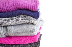 Sweaters were folded in a neat pile Stock Photography