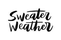Sweaterweer het van letters voorzien Royalty-vrije Stock Foto's