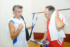 Sweating after game squash Royalty Free Stock Photo