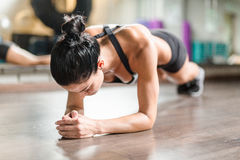 Sweating in gym Royalty Free Stock Photos