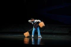 Sweating- Jiangxi opera a steelyard Royalty Free Stock Photos