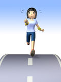 She is sweating in jogging. Royalty Free Stock Images