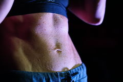 Sweating six-pack Royalty Free Stock Images