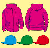 Sweatshirt and hats Royalty Free Stock Images