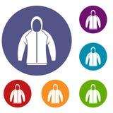 Sweatshirt icons set Stock Photography