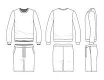 Sweatshirt and shorts Stock Images