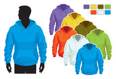Sweatshirt template Stock Photography