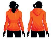 Sweatshirt template royalty free illustration