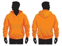 Sweatshirt template. Men's sweatshirt template with human body silhouette Royalty Free Stock Photo