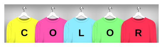 Sweatshirts on the hanger Royalty Free Stock Photos