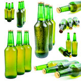 Sweaty bottle of beer Royalty Free Stock Images