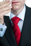 Sweaty Businessman Wiping Face Royalty Free Stock Image