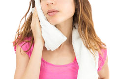 Sweaty after sports Royalty Free Stock Photo