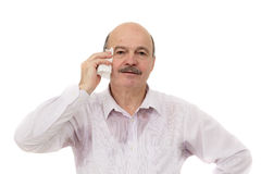 Sweaty spot on the shirt because of the heat, worries and diffidence. Royalty Free Stock Photo