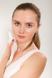 Sweaty young woman Royalty Free Stock Photography