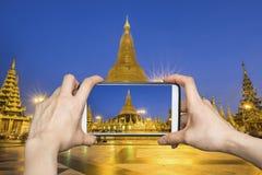 Swedagon, Myanmar Smartphone Photography Royalty Free Stock Photography
