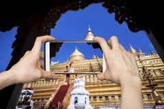 Swedagon, Myanmar Smartphone Photography Royalty Free Stock Images