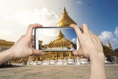 Swedagon, Myanmar Smartphone Photography Stock Images