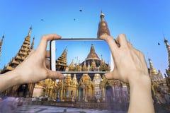 Swedagon, Myanmar Smartphone Photography Stock Photo