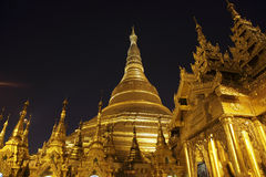 Swedagon Paya in Yangon, Myanmar Royalty Free Stock Photos
