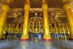 Swedaw Myat寺庙,缅甸 库存照片