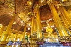 Swedaw Myat寺庙,缅甸 免版税图库摄影