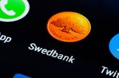 Swedbank app stock image