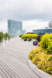 Swedbank Terrace in Vilnius, Lithuania Stock Photos