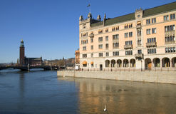 Sweden. Éstocolmo. Rosenbad Fotos de Stock Royalty Free
