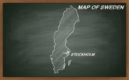 Sweden on blackboard Stock Image