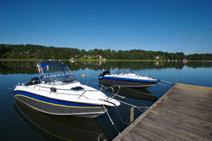 Sweden boat dock 2 royalty free stock photos