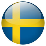 Sweden Button. On white background Stock Photos